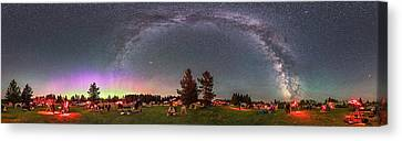 Panorama Of The Stars Over Cypress Hills Canvas Print by Alan Dyer