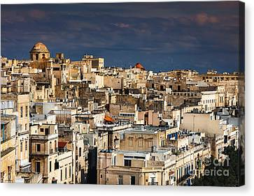 Panorama Of Valetta Malta Canvas Print by Frank Bach