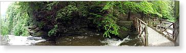 Panorama Of Wolf Creek At Letchworth State Park Canvas Print by Rose Santuci-Sofranko