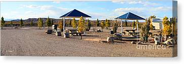 Panorama Outdoor Community Area Canvas Print by Roena King