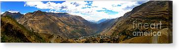 Panoramic Andes Mountains Canvas Print