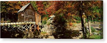 Panoramic Of Glade Creek Grist Mil Canvas Print by Panoramic Images