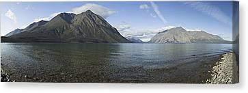 Panoramic Of Kathleen Lake Including Canvas Print by Ray Bulson