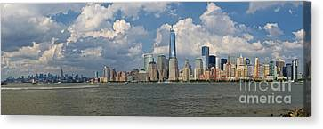 Panoramic Of New York City Canvas Print