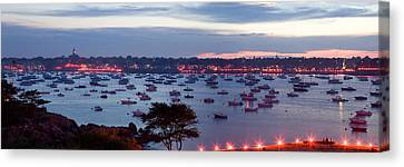 Panoramic Of The Marblehead Illumination Canvas Print