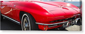 panoramic red Corvette Canvas Print