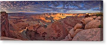 Panoramic Sunrise Over Dead Horse Point State Park Canvas Print