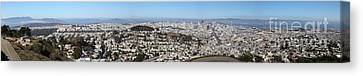 Panoramic View From San Francisco California Twin Peaks 20140223 Canvas Print by Wingsdomain Art and Photography