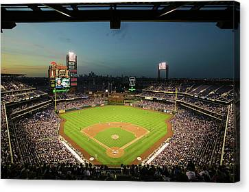 Citizens Bank Park Canvas Print - Panoramic View Of 29,183 Baseball Fans by Panoramic Images