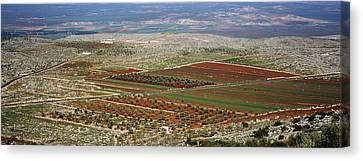 Panoramic View Of A Landscape, Aleppo Canvas Print by Panoramic Images
