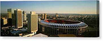 Panoramic View Of Busch Stadium Canvas Print
