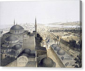 Panoramic View Of Constantinople Canvas Print by Gaspard Fossati