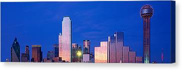 Panoramic View Of Dallas, Tx Skyline Canvas Print by Panoramic Images