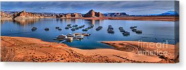 Panoramic View Of Lake Powell Canvas Print by Adam Jewell