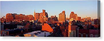 Panoramic View Of Lower East Side Canvas Print by Panoramic Images