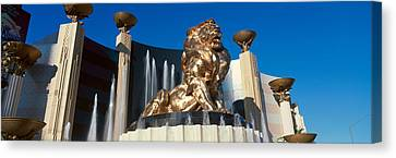 Panoramic View Of Mgm Lion And Mgm Canvas Print by Panoramic Images