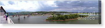 Panoramic View Of North Shore Chattanooga Tennessee Canvas Print by   Joe Beasley