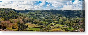 Panoramic View Of Orvieto In Italy Canvas Print
