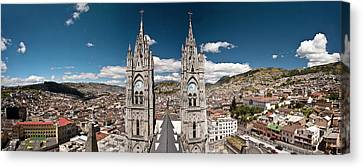 Panoramic View Of The Bell Towers Canvas Print by Brent Bergherm