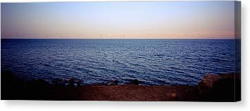 Panoramic View Of The Sea, Dead Sea Canvas Print by Panoramic Images