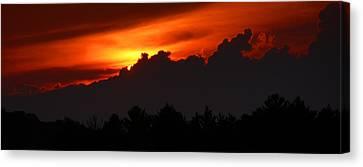 Adirondack Sunset Work A Canvas Print