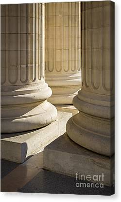 Greek Icon Canvas Print - Pantheon Columns by Brian Jannsen