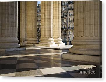 Greek Icon Canvas Print - Pantheon Columns Paris by Brian Jannsen