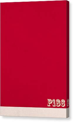Pantone 186 Fire Engine Red Color On Worn Canvas Canvas Print by Design Turnpike