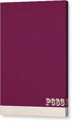 Pantone 683 Plum Purple Color On Worn Canvas Canvas Print by Design Turnpike