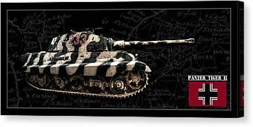 Panzer Tiger II Side Bk Bg Canvas Print