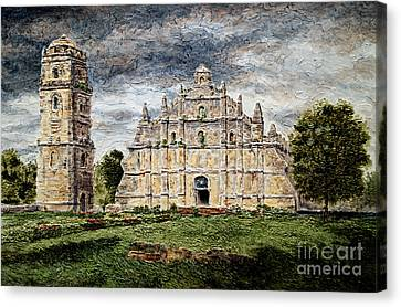 Paoay Church Canvas Print by Joey Agbayani
