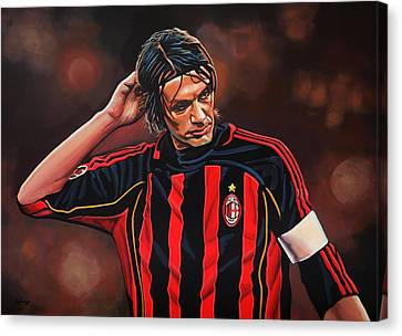 Paolo Maldini Canvas Print by Paul Meijering