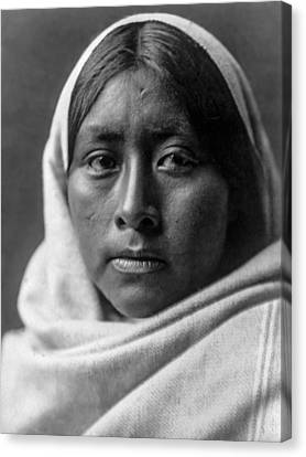 Papago Indian Woman Circa 1907 Canvas Print by Aged Pixel