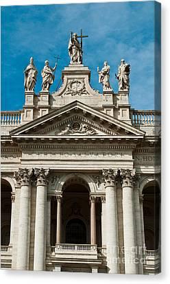 Papal Archbasilica Of Saint John Lateran Canvas Print by Luis Alvarenga