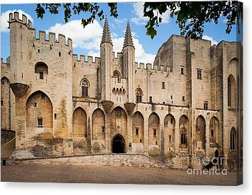 Guides Canvas Print - Papal Castle In Avignon by Inge Johnsson