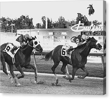 Papal Power Horse Racing Vintage Canvas Print by Retro Images Archive