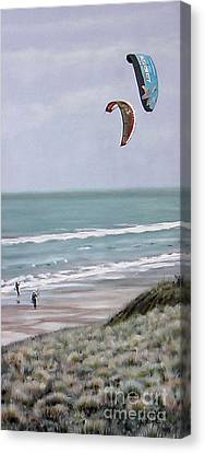Papamoa Beach 090208 Canvas Print by Sylvia Kula