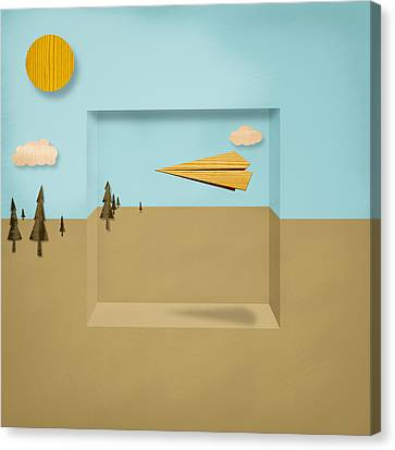 Paper Airplanes Of Wood 12 Canvas Print by YoPedro