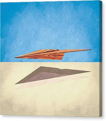 Paper Airplanes Canvas Print - Paper Airplanes Of Wood 14 by YoPedro