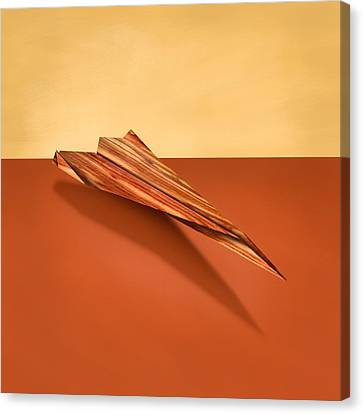 Paper Airplanes Canvas Print - Paper Airplanes Of Wood 4 by YoPedro
