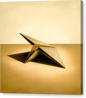 Paper Airplanes Of Wood 7 Canvas Print by YoPedro