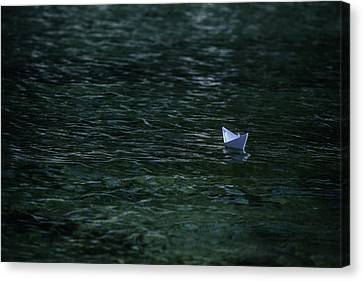 Paper Boat Canvas Print by Joana Kruse