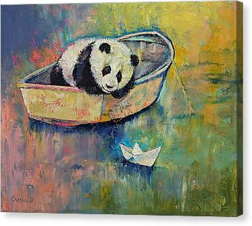 Paper Boat Canvas Print by Michael Creese