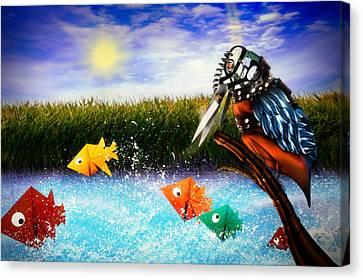 Fish Pond Canvas Print - Paper Dreams by Alessandro Della Pietra
