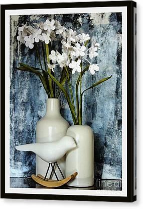 Paper Flowers Canvas Print by Marsha Heiken