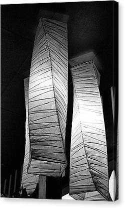 Paper Lampshades Canvas Print by Bob Wall