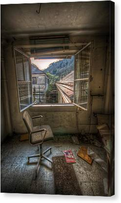 Paper Mill Reflection  Canvas Print by Nathan Wright