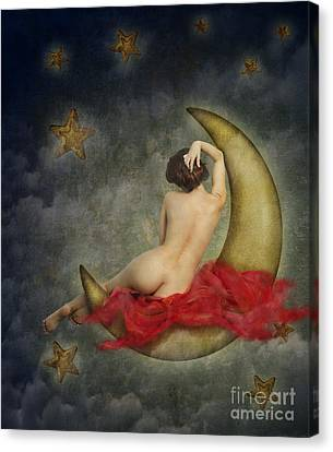 Paper Moon Canvas Print by Jelena Jovanovic