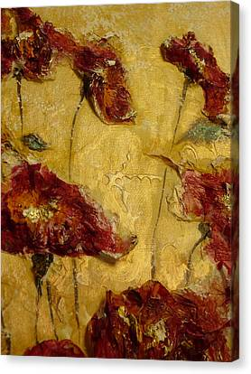 Paper Poppies Canvas Print by Jeannine Sandoval