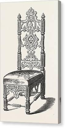 Papier Mache Chair Canvas Print by Jennens And Bettridge, English, 19th Century